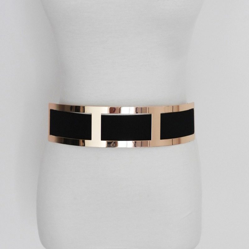 Women Wide Stretchy Belt For Dress Black And Beige Cummerbund Luxury Designer Belt Plus Size Bg-025