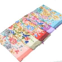 цены Women Silk Feel Scarf Shawl Female Satin Silk Scarf  Foulard Women Luxury Brand Design Printed Shawls And Wrap Hijab Scarf