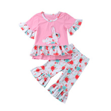 girls clothes rabbit printing thanksgiving outfits kids fashion 2019 summer boutique clothing floral christmas baby korean autumn thanksgiving fall winter baby girls brown orange turkey outfits polka dot pant clothes ruffle boutique match accessories