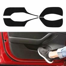 Per Tesla Modello 3 2018-2019 4 pcs Auto Porta Interna Anti Calcio Pad Protezione Della Copertura Autoadesivo