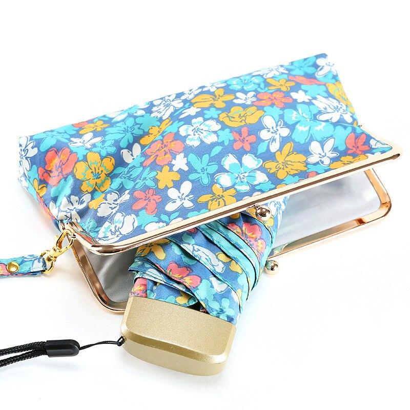 Japán virágmintás csomag Mini Minőségi Napos esős divat Kreatív összecsukható márka esernyő Női női gyönyörű táskával