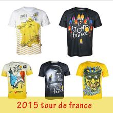men cycling bike bicycle short sleeves quick dry breathable jerseys shirts,short sleeves jerseys Tour de France 8 styles(China)