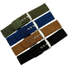 Watch Band Strap Nylon Mesh Canvas Watchbands Womens Mens Sport Watches Belt Accessories Hombre 16mm 18mm 20mm 22mm 24mm + Tool все цены