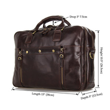 7201C J.M.D New Arrival Vintage Leather Men's Coffee Messenger Bag Excellent Briefcases