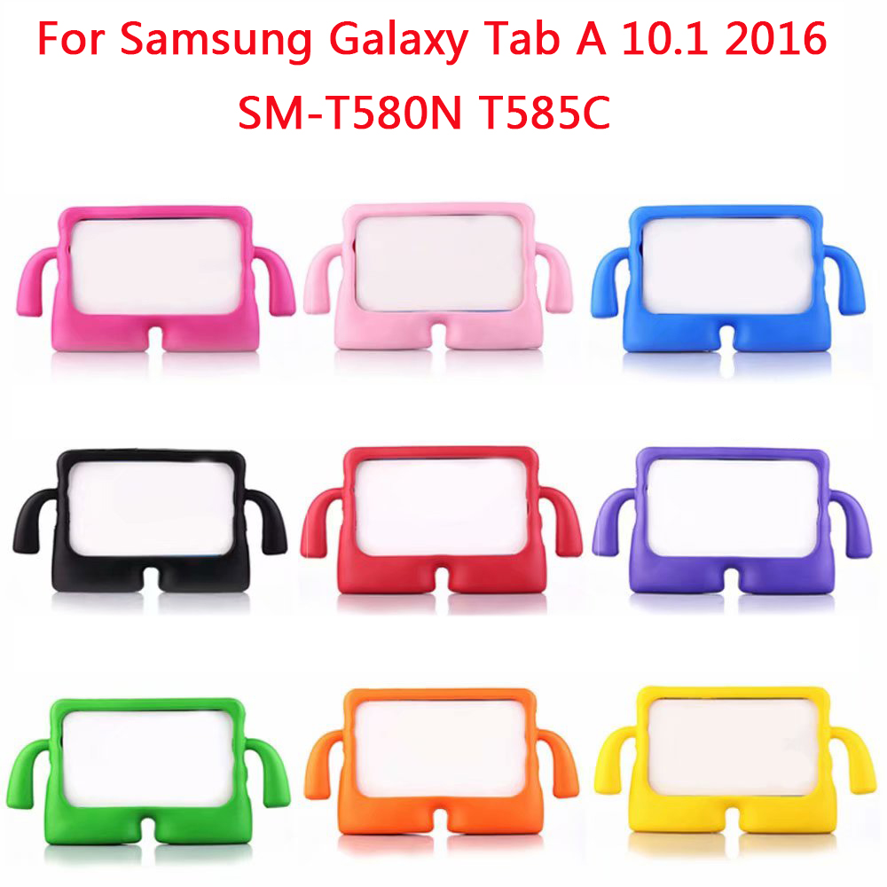 Kids Cute Cartoon Foam Cover For Samsung Galaxy Tab A A6 10.1 2016 T580 T585 SM-T585N Case Children ShockProof Shell(China)