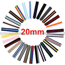 2PCS Pack Watch Strap 20MM Nylon Watch Band washable and durable Woven Nylon Strap Watch Accessories for Watches Women Men