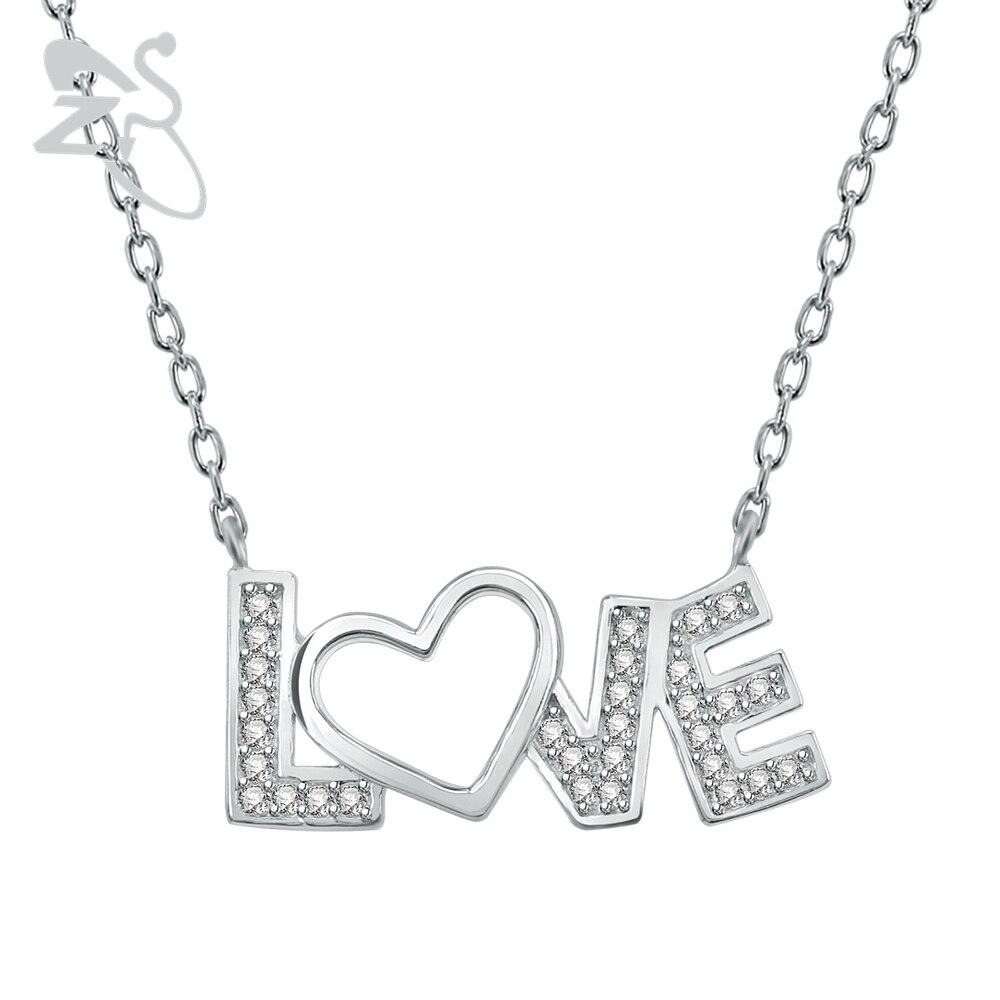 Us 1167 20 Offtersayang Surat Cinta Hati 925 Sterling Silver Bijoux Choker Kalung Kristal Liontin Perhiasan Pasangan Sayang Kekasih Istri