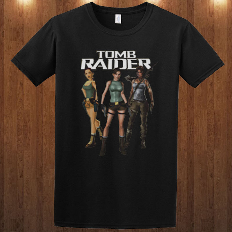 Tomb Raider Lara Croft t-shirt action adventure video game tee S M L XL 2XL 3XL Fashion Men Printed T Shirts