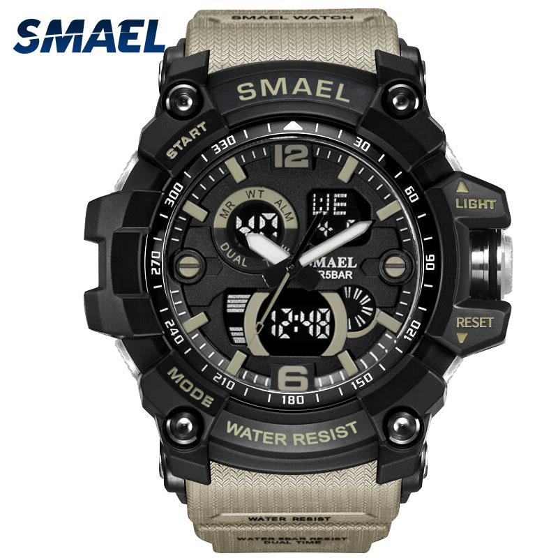 Esporte Relógios Analógico Digital LED Backlight Relógio Dos Homens Do Esporte Relógio Digital de relogio masculino Militar Relógios Exército 1617C Wateproof