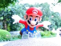 Süper Mario uçan eylem rakam Anime aksiyon figürü çocuk oyuncakları kırmızı şapka Doğum Günü Hediyesi