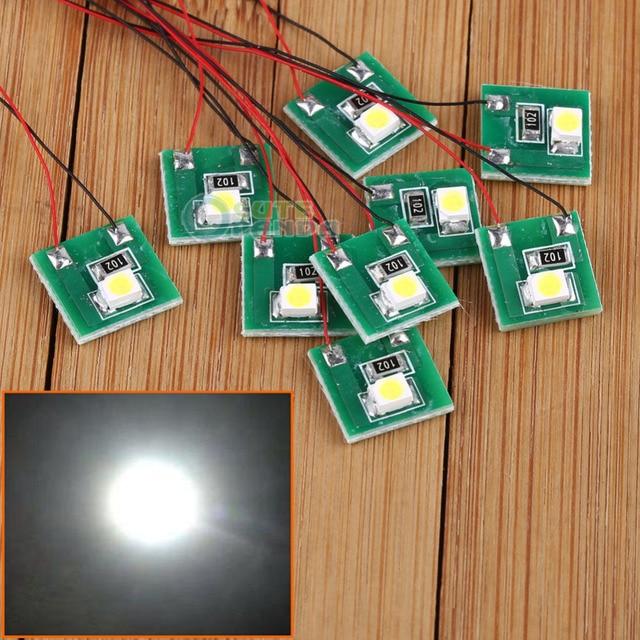 DD00W 10pcs Pre Wired Bright White SMD 3528 Led Lamp Light Set 12V ~ 18V NEW 1