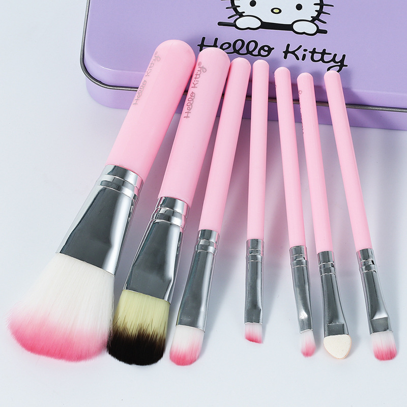 Hello Kitty Kids Makeup Toys Girls Toys For Children  7-pack Children's Makeup Brush Set Little Girl Beauty Brush Beauty Tools