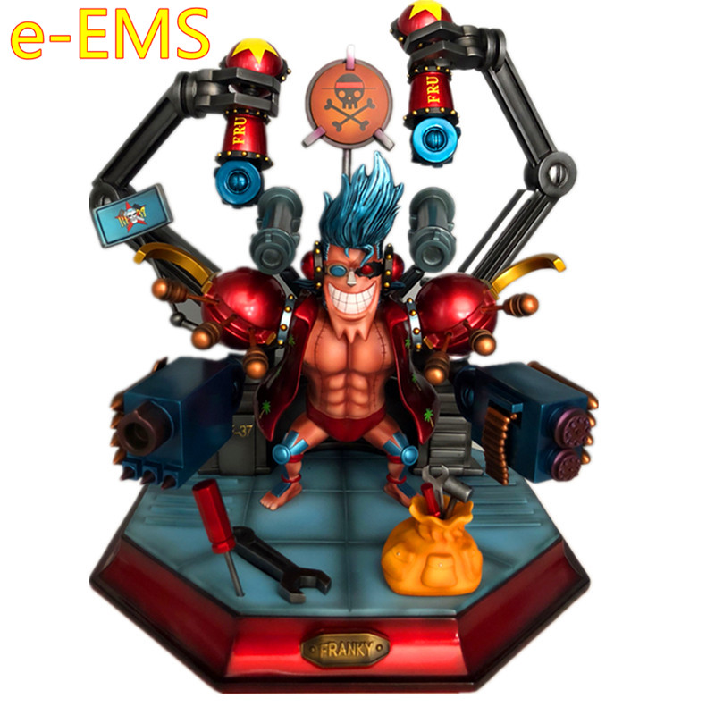 Anime ONE PIECE Transformation Of Human FRANKY GK Resin Statue Action Figure Model Giocattolo G2525