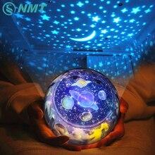 Starry Sky Erde Drehen Projektor LED Nachtlicht USB AA Batterie Powered LED Nacht Lampe Neuheit Baby Licht für Weihnachten geschenk