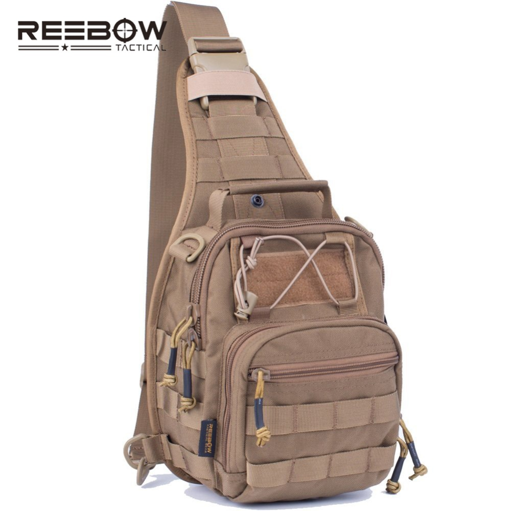 REEBOW TACTICAL Outdoor Military Camouflage Sling Pack 1000D Cordura Urban Sports Chest Bag SWAT Hunting Molle Messenger Bag outdoor mens military waterproof 1000d nylon handbag camouflage shoulder bag hunting tactical removable messenger bags