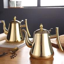 Нержавеющая сталь чайник Немагнитный Европейский кофейник домашний отель с фильтром индукционная плита
