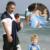 Moda Anel Da Água Da Praia Envoltório Estilingue Do Bebê Piscina Quick Dry chuveiro Assento Engrenagem Mochila Portador de Bebê Infantil de Alta Qualidade Marinha azul