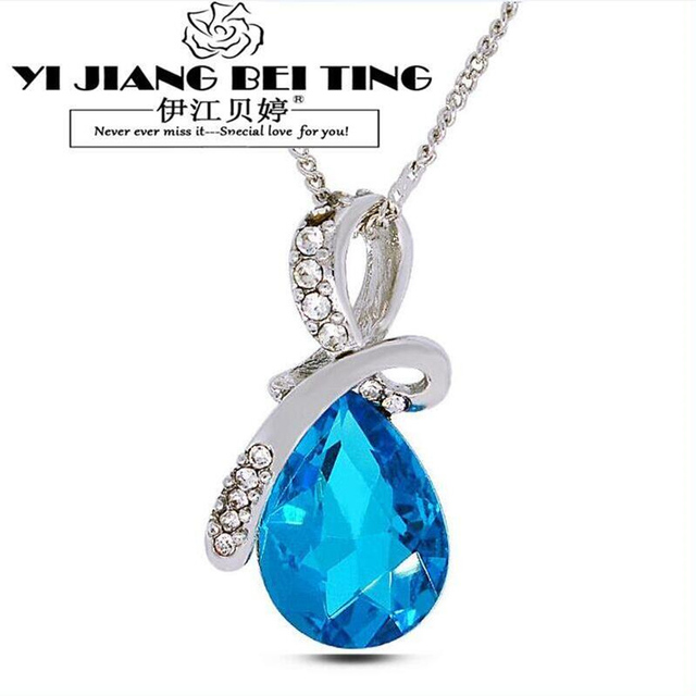 Water drop necklaces pendants gold and silver jewelry fashion water drop necklaces pendants gold and silver jewelry fashion necklaces women 2017 crystal necklaces pendants ladies jewellery in pendant necklaces from mozeypictures Choice Image