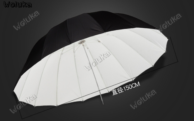 60 cal 150CM na zewnątrz czarny biały parasol odblaskowy fotografia parasol parasol słoneczny studyjne lampy lampa wisząca lampa fotograficzna CD50 T03 tanie i dobre opinie 88cm woluka