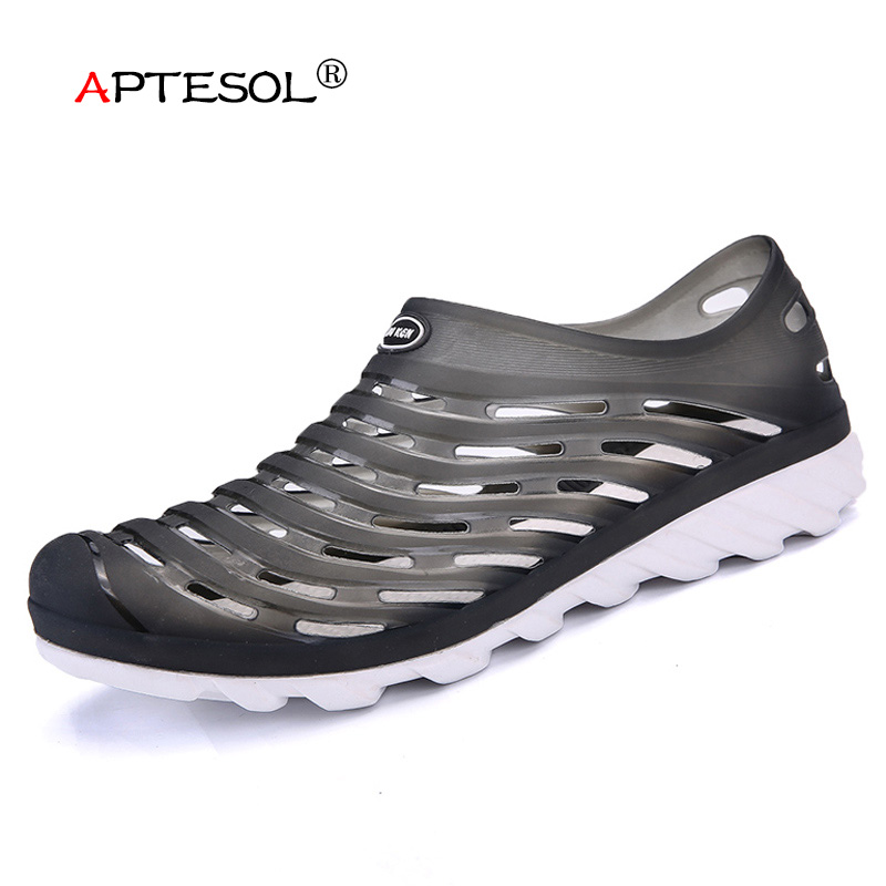 APTESOL Mens Fashion EVA Injection Shoes Men Outdoor Casual Beach Sandals Light Weight Summer Seaside Men Sneakers