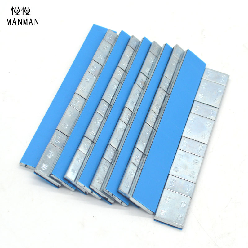 600 G Package Wheel Balance Weight Wheel Weight (5+10)g*4=60g Surface Zinc Plated Blue Tape