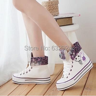 2016 mujeres del Resorte zapatos de plataforma zapatos casuales zapatos de las mujeres respirables los zapatos de lona dulces zapatos estudiantiles
