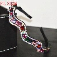 Luxury Full Crystal Hair Accessories Shinning Non Slip Hairbands Women Girl High Quality Headwear Teeth Fashion