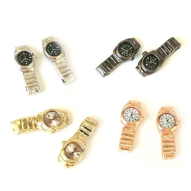 1:12 Miniatur Uhr Für Puppenhaus Decor Zubehör Mini Möbel Spielzeug Multiple Farbe