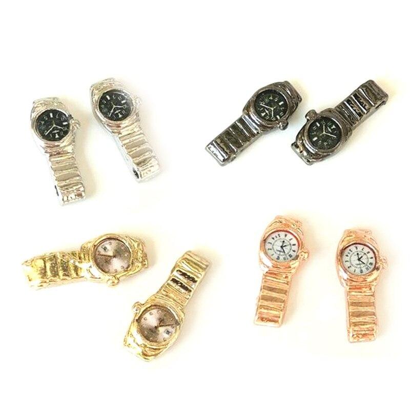 1:12 Scale Miniature Watch For Dollhouse Decor Accessories Mini Furniture Toy Multiple Colour