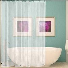 Водостойкая прозрачная занавеска для душа белая прозрачная занавеска для ванной комнаты Роскошный банный занавеска с крючками пластиковый полиэстер