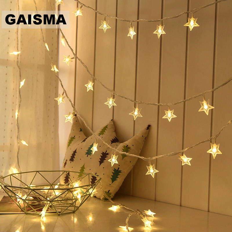 10M 100 Bulbs Star LED String Lights Decoration Christmas Garland Fairy Lights For Wedding Party Holiday Decor Outdoor Lighting