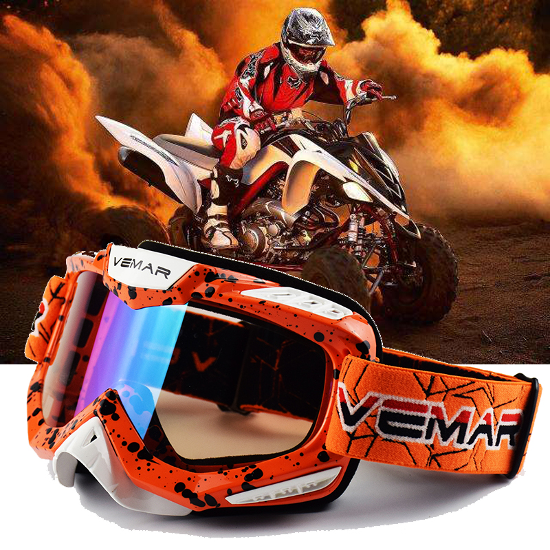 10 Colors Motorcycle glasses ATV MX Off Road Dirt Bike Gafas Motocross Goggles Ski Sport Glasses Masque Moto Man Women