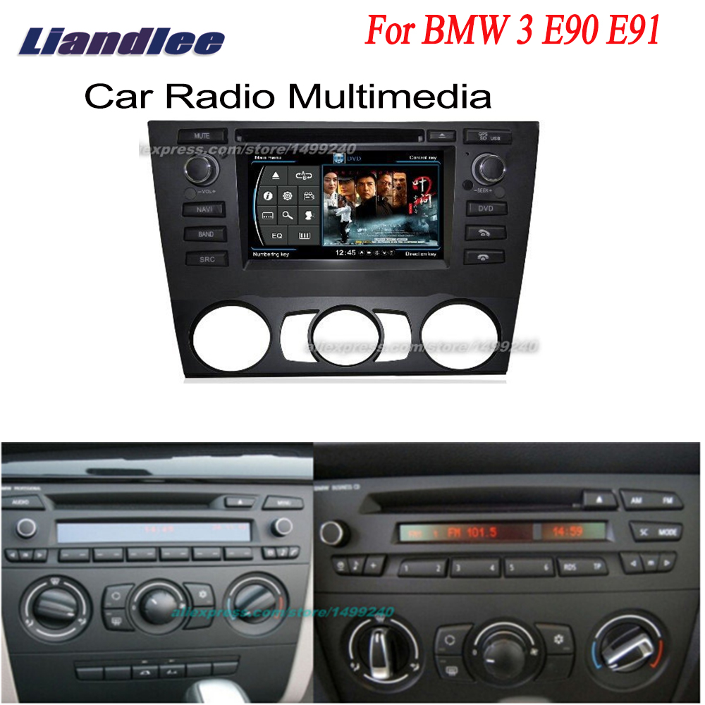 Liandlee voiture GPS Navigation pour BMW 3 E90 E91 2005 ~ 2012 système + Radio TV DVD iPod BT 3G WIFI HD écran système multimédia