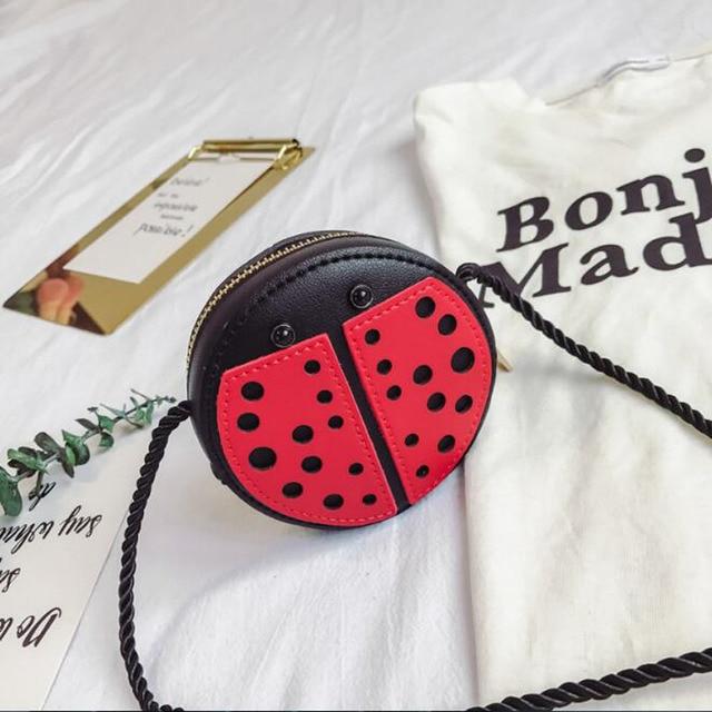 S Snails Animal Prints Handbags Ladybug Children Shoulder Crossbody Bags Baby Leather Messenger Candy Coin