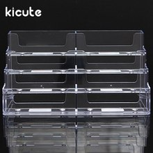 Office & School Supplies Card Holder & Note Holder Smart Kicute Hot Desktop Business Card Holder 8 Pockets Stand Clear Transparent Acrylic Counter Display Stand Office Home Supplies