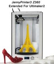 2016 El Más Nuevo! JennyPrinter 3 Z360 DIY KIT De Impresora 3D Ultimaker 2 UM2 Extendida de Nivelación Automática Incluye todas las Partes