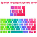 "Spain/Spanish Colorful Silicone Keyboard Cover Skin Protector for Mac Macbook Air Pro / Retina 13"" 15"" 17"""