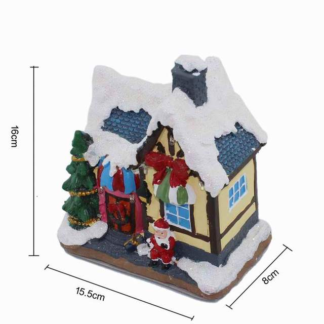 Christmas Houses.Us 14 72 8 Off Verry Christmas Village Houses Rgb Led Lighted Sculpture Xmas Holiday Collection In Figurines Miniatures From Home Garden On