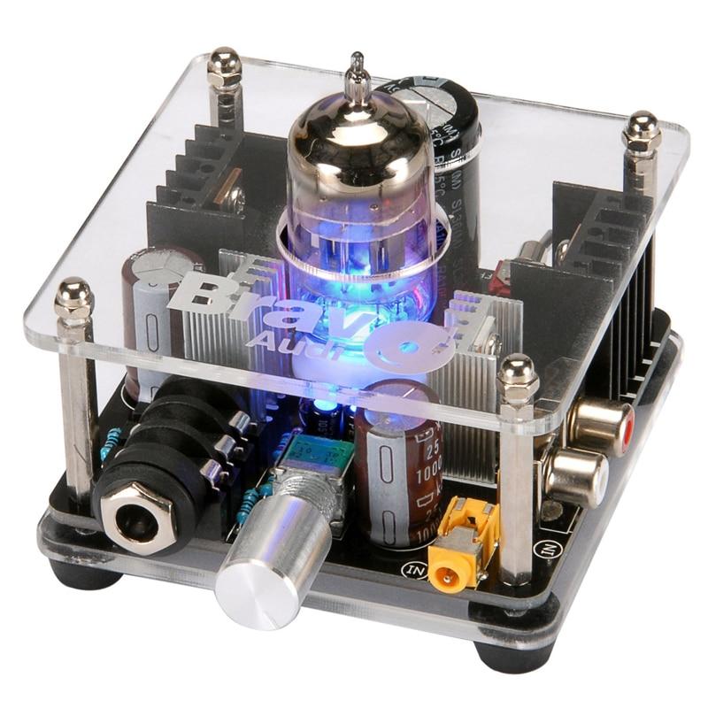 Bravo Audio V2 Valve Class A 12AU7 Tube Headphone Amplifier ...