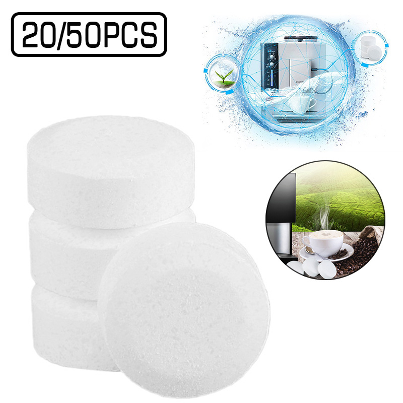 20/50pcs Water Multifunctional Effervescent Tablet Spray Cleaner Glass Concentrated Coffee Machine Pipe Cleaning Dirt Stains