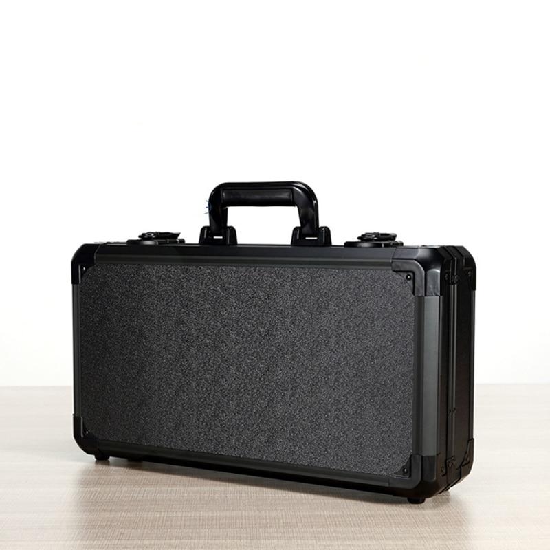 470x250x120mm Portable Tool Box Aluminium Alloy Home Storage Box Large Space Tool Box File Insurance Storage Case
