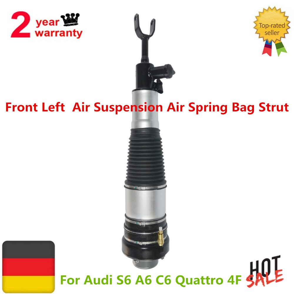 Front Left Air Suspension Air Spring Bag Strut For Audi S6 A6 C6 4F 4F0616039 P S AA M J Q R T 4F0616039R 4F0616039T radiator cooling fan relay control module for audi a6 c6 s6 4f0959501g 4f0959501c
