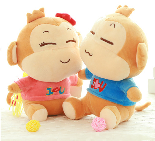18-25cm Cute lovely Monkey dolls animal Plush Toys Lover gifts Cartoon Kids Baby toys Wedding supplies dolls home decoration