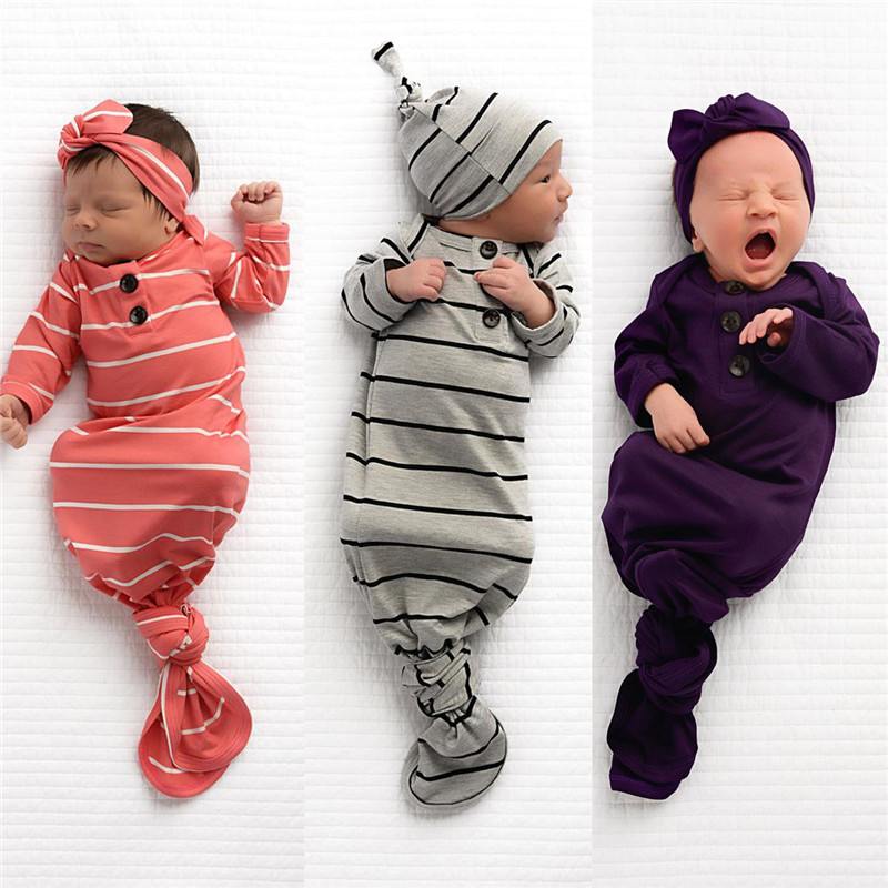 2019 Hot Newborn Baby Sleeping Bag  Blanket Swaddle Wrap Bedding Clothes Hat Outfits