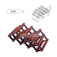 0016 Bar Household In Order To Maintain Infiltration Red Wine Rack Display Shelf Wine Organizer Solid Wood 9 Bottle Mount Holder