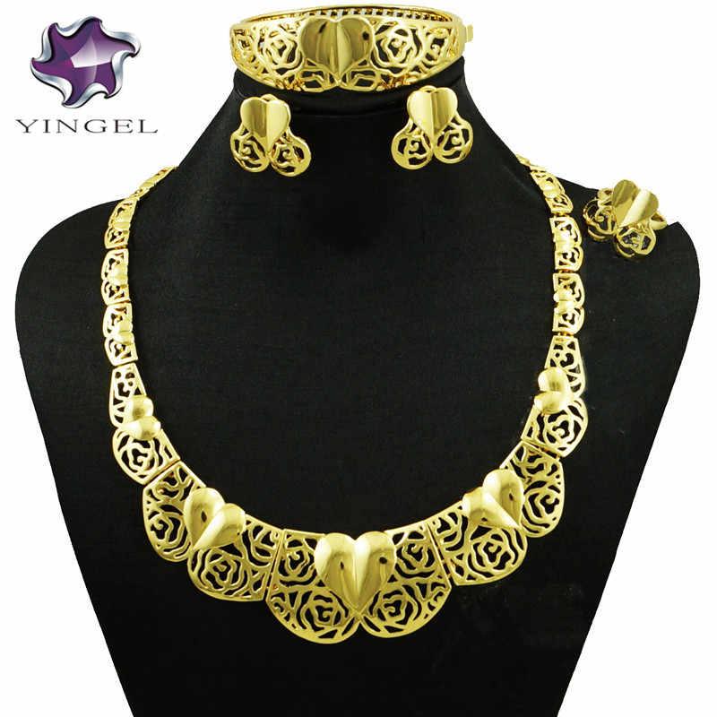 Afrikanischen schmuck-sets hochzeit halskette afrikanischen schmuck set gold halskette schmuck halskette sets