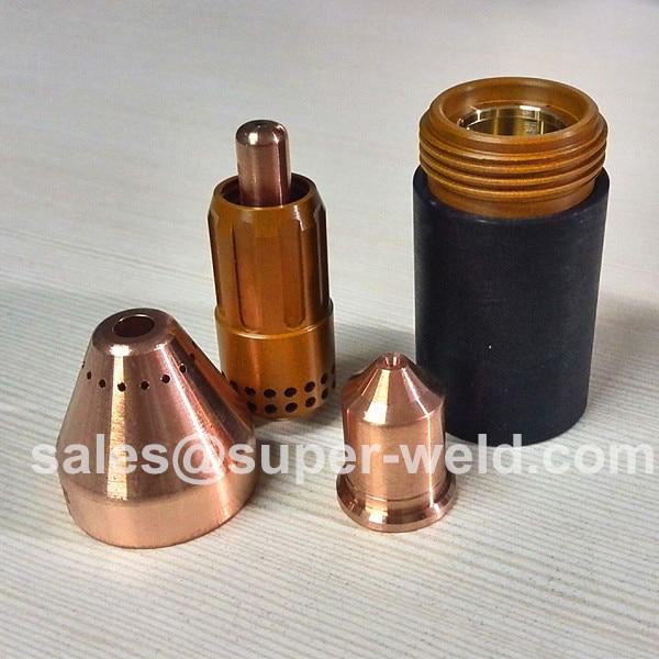 Welding Nozzles P160 Long Electrode 20pcs And Nozzle 20pcs Plasma Consumable For 160a-200a Plasma Cutting Consumables