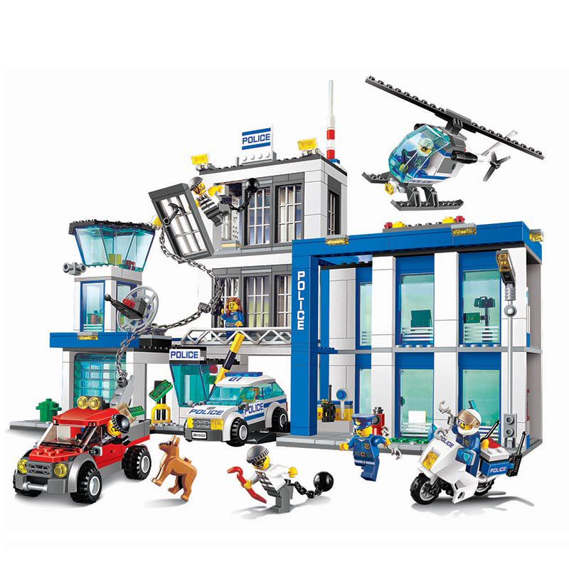 890pcs BELA 10424 Compatible lepin 60047 City Police Station Figure Building Blocks Bricks Emma Mia Figure Toys For Children bela 10439 compatible lepin city arctic helicrane building blocks policeman figure toys for children girls