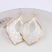 ZWPON 2018 New Graceful Arabesque Teardrop Dangle Earrings for Women Fashion  Gold Filigree Heart Earrings Love Jewelry Wholesale a441a25e95c8