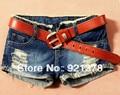 Бесплатная доставка Леди Джинсовые Шорты сексуальные новизна шорты джинсы женские джинсы сексуальные дамы шорты шорты